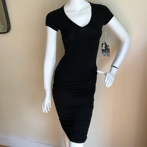 NEW Young Fabulous and Broke black ruched dress